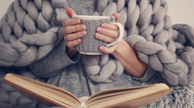 Comfort with book and mug