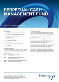 Perpetual cash management fund PDF