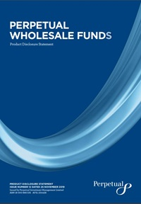 Perpetual Wholesale Funds PDS